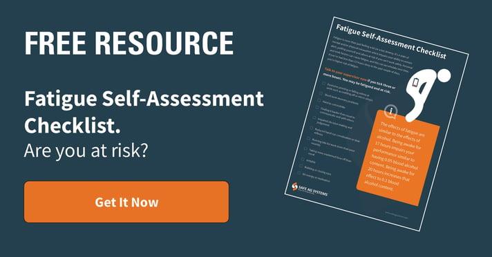 Fatigue self-assessment Checklist  - CTA ad size FB