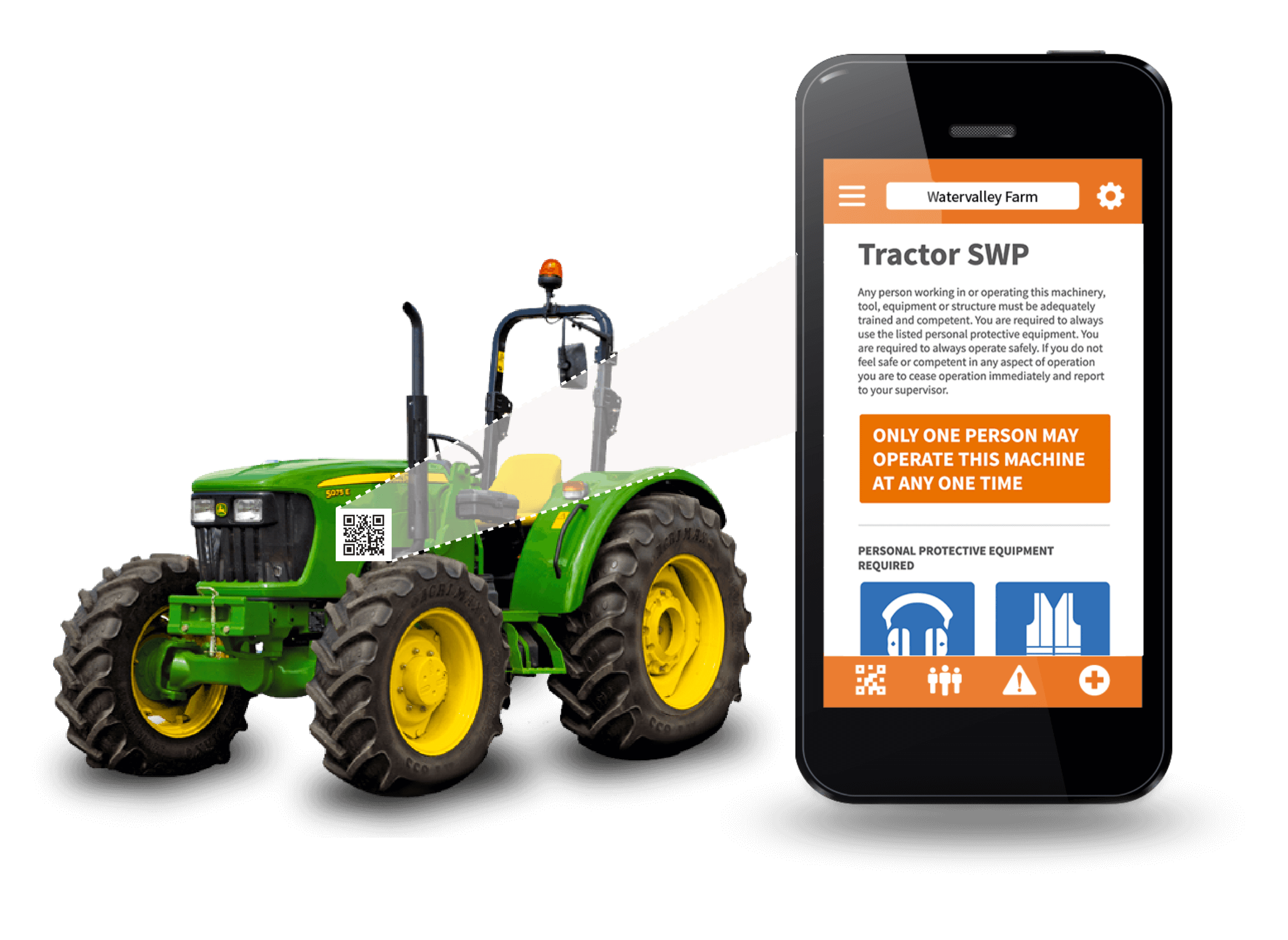Tractor scan mockup